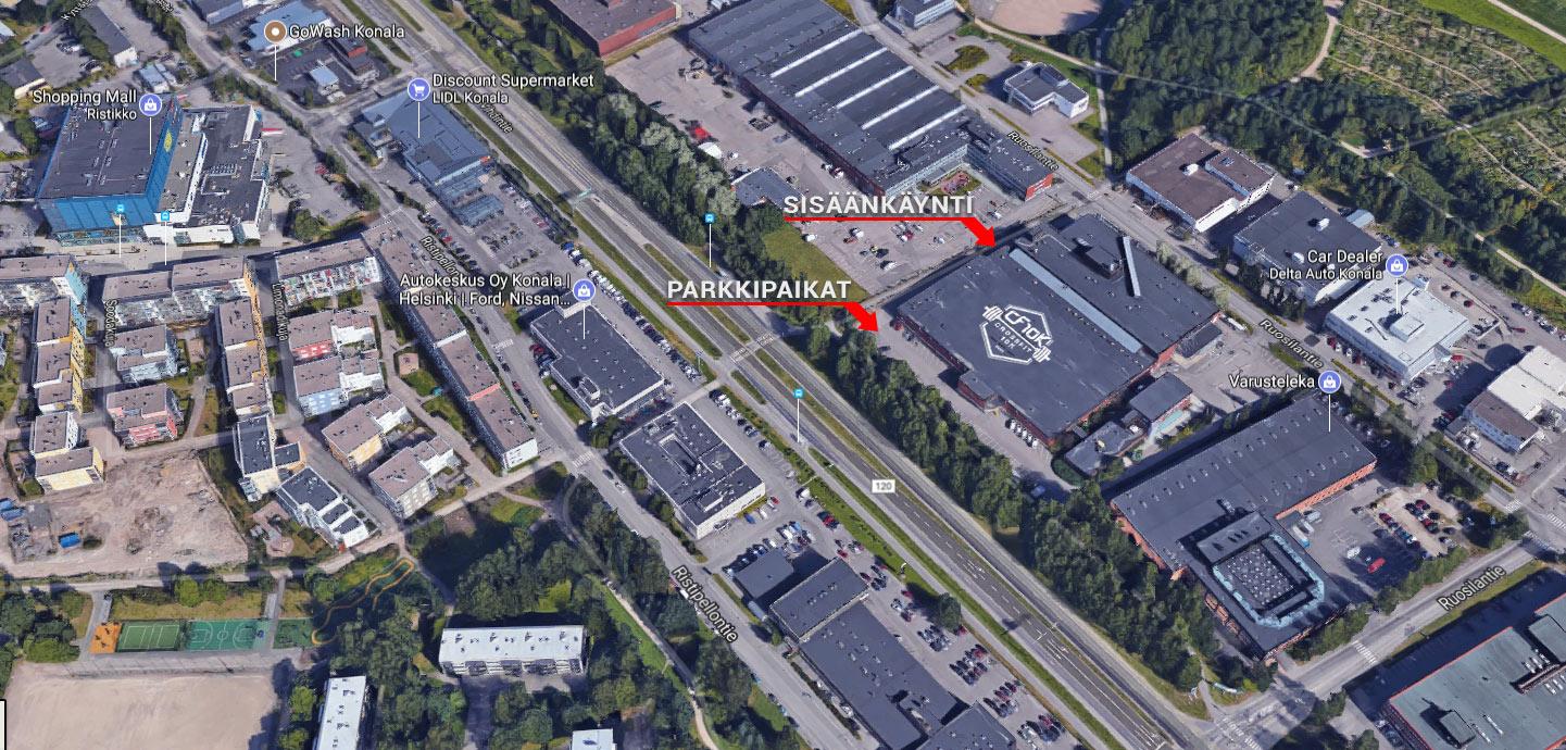 Kartta Helsingin Konalan